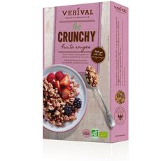VERIVAL Verival Crunchy Céréales bio aux fruits rouges 375g 375g