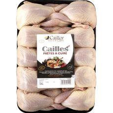 CAILLOR Cailles prêtes à cuire 10 pièces 1,5kg