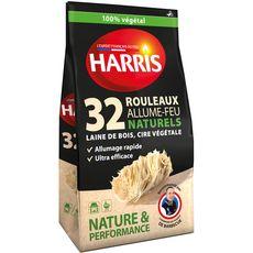 HARRIS Rouleaux allume-feu naturels 100% végétal 32 rouleaux