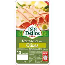 ISLA DELICE Mortadelle aux olives halal 120g