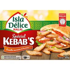 ISLA DELICE Kebab de volaille émincée halal 400g