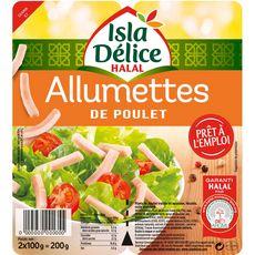 ISLA DELICE Allumettes de poulet halal 2x100g 200g