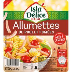 ISLA DELICE Allumettes de poulet fumées halal 2x100g 200g