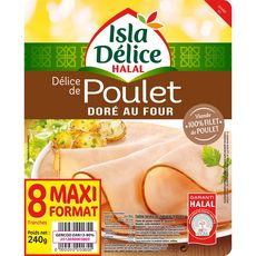 ISLA DELICE Isla Délice Poulet doré halal 8 tranches 240g 8 tranches 240g