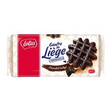 LOTUS Gaufres de Liège nappées de chocolat belge, sachets individuels 7 gaufres 363g