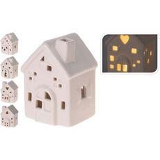 Petite maison en porcelaine blanche avec led x1 1 pièce