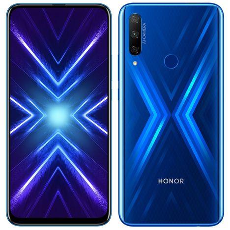 HONOR Smartphone 9X 128 Go 6.59 pouces Bleu Sapphire Blue 4G Double SIM