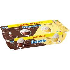 DANETTE Liégeois chocolat vanille 8x100g