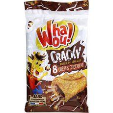 WHAOU Whaou! Cracky 8 crêpes fourrées chocolat et billes de céréales 256g 8 crêpes 256g