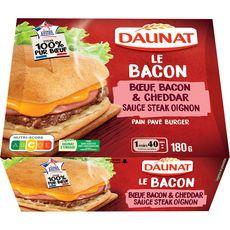 Daunat Burger au bœuf, bacon et cheddar 180g