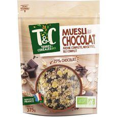 TERRES ET CEREALES BIO Terres et céréales bio Muesli au chocolat 375g 375g