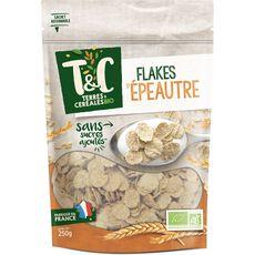 TERRES ET CEREALES BIO Céréales flakes d'épeautre 250g