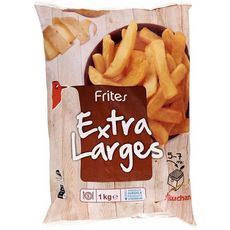 AUCHAN Frites extra larges 1kg