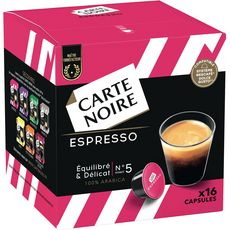 Nescafé CARTE NOIRE Capsules de café espresso 100% arabica compatibles Dolce Gusto