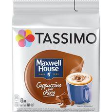 TASSIMO Dosettes de café Maxwell House Cappuccino au chocolat 8 dosettes 208g