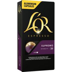 L'OR Capsules de café supremo compatibles Nespresso 10 capsules 52g