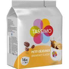 TASSIMO Café petit déjeuner classique en dosette 16 dosettes 128g