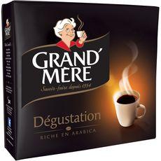 GRAND'MERE Café moulu dégustation riche en arabica 2X250g