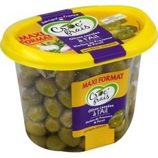 CROC'FRAIS Olives entières cassées à l'ail 550g