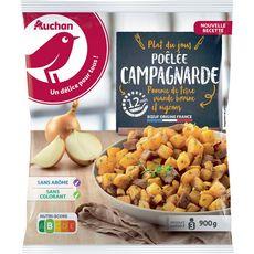 AUCHAN Poêlée campagnarde 3 portions 900g