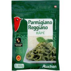 AUCHAN Parmigiano reggiano râpé AOP 60g