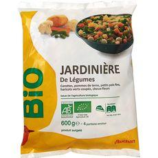 AUCHAN BIO Jardinière de légumes 3 portions 600g