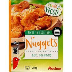 AUCHAN Nuggets végétal de blé et oignon 2 portions 200g