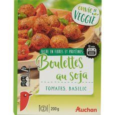 AUCHAN Boulettes végétal au soja et à la tomate 200g