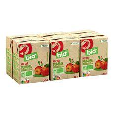AUCHAN BIO Nectar de pomme sans sucres ajoutés 6x20cl
