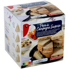 AUCHAN Auchan Pain de campagne surprise 32 portions 460g 32 pièces 460g
