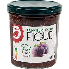 AUCHAN Confiture extra de figues 360g