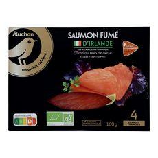 Auchan Bio Saumon fumé d'Irlande 4 tranches -160g