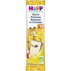 Hipp bio barre céréales pomme banane sachet 25g dès 12mois