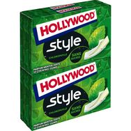 Hollywood Hollywood Style chewing-gums sans sucres goût menthe verte 4x12 dragées 92g
