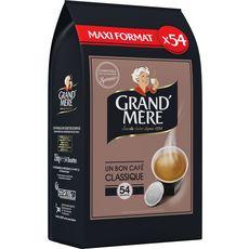 GRAND'MERE Dosettes de café un bon café classique 56 dosettes 356g