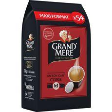 GRAND'MERE Dosettes un bon café corsé compatibles Senseo 56 dosettes 356g