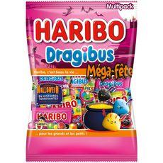 HARIBO Dragibus Méga-fête halloween 25 mini sachets 960g