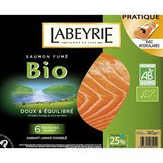 Labeyrie saumon fumé bio x6 - 180g