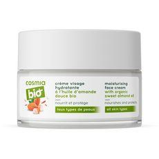 COSMIA BIO Crème visage hydratante amande douce bio tous types de peaux 50ml