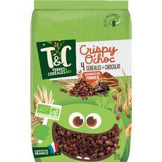 TERRES ET CEREALES BIO Céréales crispy o'choc 4 céréales au chocolat 375g