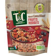 Terres et Céréales bio muesli croustillant aux fruits 500g