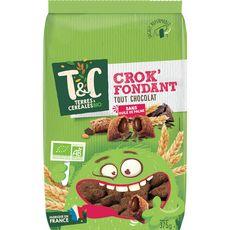 TERRES ET CEREALES BIO Céréales crok'fondant tout chocolat 375g