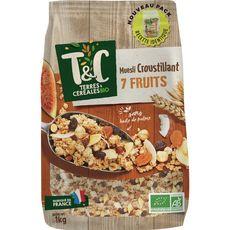 TERRES ET CEREALES BIO Terres et Céréales Bio Muesli croustillant 7 fruits 1kg 1kg