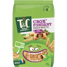 TERRES ET CEREALES BIO Crok'fondant céréales chocolat noisettes 375g
