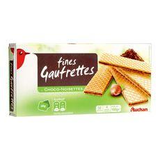 AUCHAN Auchan gaufrettes fourrées chocolat noisettes 160g 160g
