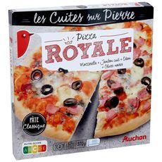 AUCHAN Pizza cuite sur pierre royale 370g