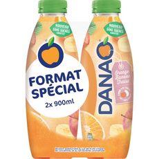DANAO Boisson au jus d'orange banane fraise et lait 2x90cl
