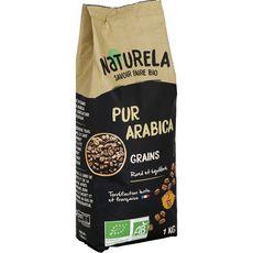 NATURELA Café en grains bio pur arabica 1kg