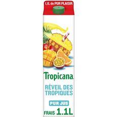 Tropicana Pur jus multivitaminé réveil des tropiques 1,10L