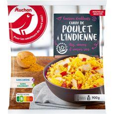 AUCHAN Curry de poulet à l'indienne 900g
